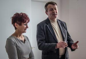Марија Драгељ и мр Драго Војводић, предсједник ССДС